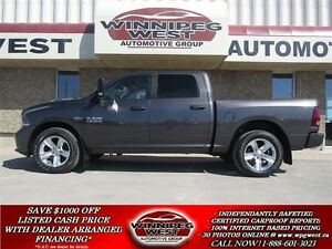 2015 Dodge Ram 1500 SPORT CREW 4X4, HEMI V8, HARD LOADED, ONLY 4