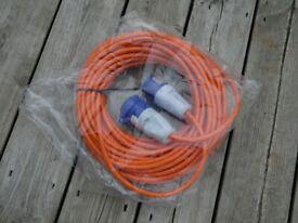 25metre Mains Hook-up Cable for caravan/motorhome.