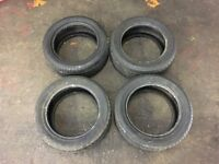 Set of 4 Dunlop SP Sport 225/50ZR16 Tyres - As New Condition Mercedes BMW Audi