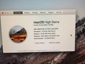 iMac Retina 5K, 27-inch late 2015 , 16GB Ram