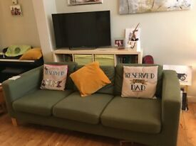IKEA Sofas Olive Green 2+3 Seats