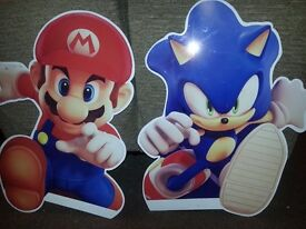 nintendo mario and sonic stainless steel sighns