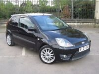 2007 FORD FIESTA 1.6 ZETEC S 3 DR~LEATHER~PANTHER BLACK~PRIVACY GLASS~HISTORY***A MUST VIEW FIRST***