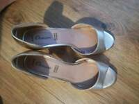 Gold sandals/shoes-brand new