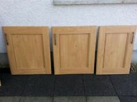 Selection of kitchen cupboard doors and sink