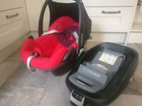 Maxi-Cosi Pebble and Family-Fix Group 0+ ISOFix Baby Car Seat and Base