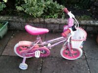 Girls bicycle with stabilisers