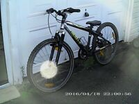 """SCOTT ALUMINIUM 24 BIKE WITH 24"""" WHEELS FRONT SUSPENSION IDEAL FOR YOUNG PERSON"""