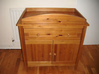 Solid Wood Changing Unit Mother Care