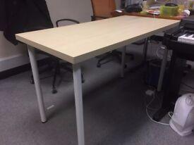 Used Light brown rectangular office desk
