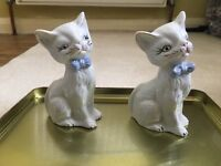 Two elegant cat ornaments for sale