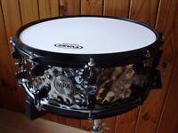 Mapex Horizon Birch Kit.. Short Stack ... Glacier White with Black Drum Hardware on Kit & Cymbals