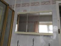 Triple mirror bathroom cabinet
