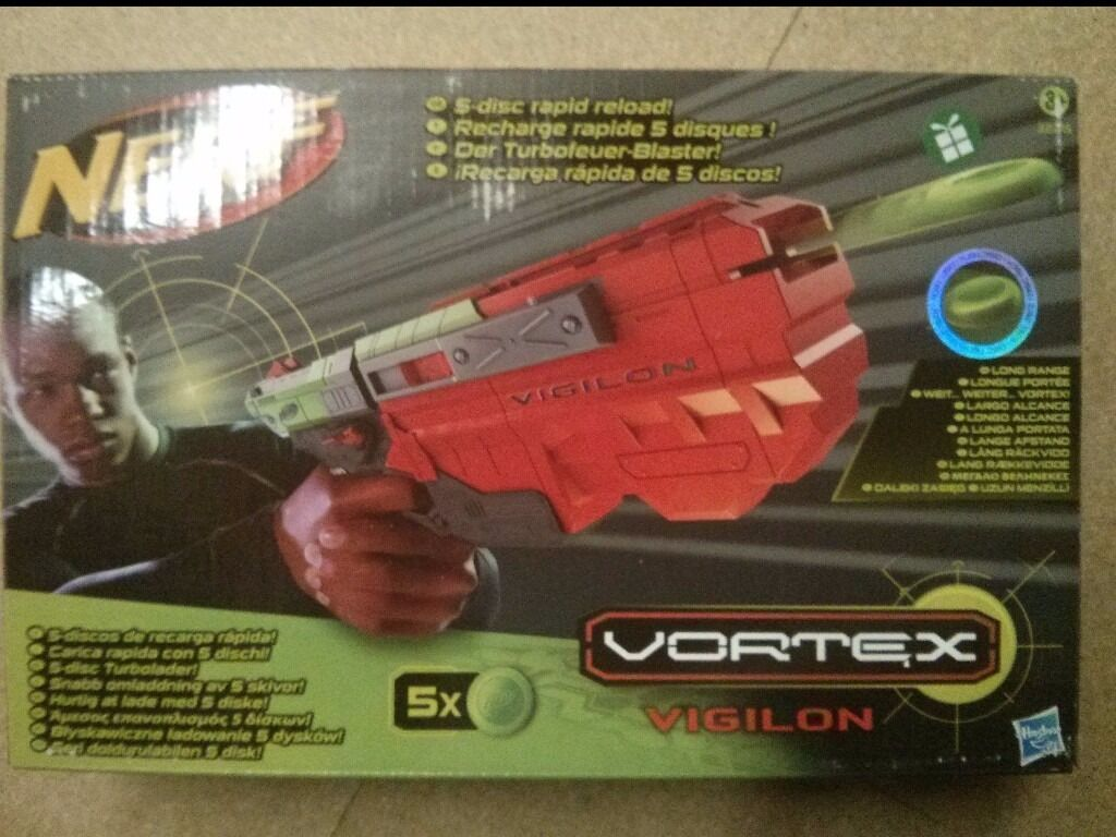 Nerf Vortex VigilonBNIBin Polmont, FalkirkGumtree - For sale, brand new and still in box, Nerf Vortex Vigilon. This model is now longer available. From a smoke and pet free home. Collection preferable but can post at buyers expense. Thanks for looking. James