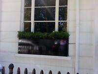 Luxurious Designer Made black painted wood window box/garden trough/planter as NEW
