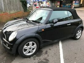 2004 black Convertible MINI with 40K miles and Dec 2018 MOT