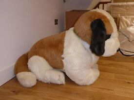 Large cuddly St Bernard soft toy dog