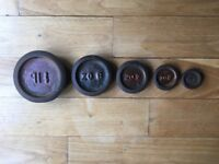 Antique OK Scales - Never been used - 1oz, 2oz, 4oz, 8oz and 1lb