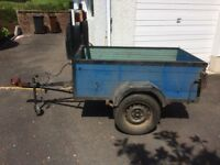 Good towing trailer 5ft long 3 ft wide 18 ins new tyres