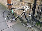 Racer road bicycle with 23.5 inch frame
