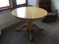 Good quality, heavy pine dining table