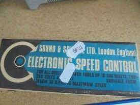 ELECTRONIC DRILL SPEED CONTROL