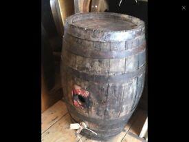 Oak barrel ideal coffee table