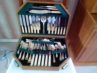 Sheffield Silver Plate 55 piece set of cutlery