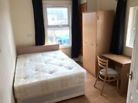 double room with en-suite, short walk to station and town centre.