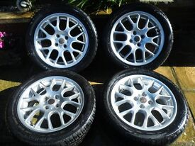 """x4 alloy wheels and good tyres 16"""" mg zr 205/50 r16 £175"""