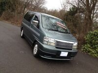 NISSAN ELGRAND TD CAMPER/MPV DAY VAN/HI SPEC/BRAND NEW KITCHEN/24V HOOK UP/TABLE/LIKE MAZDA BONGO