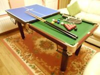 6ft x 3ft Riley BCE quality snooker table and table tennis desktop with all accessories