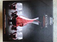 Enigma Wine Carafe and 4 glasses