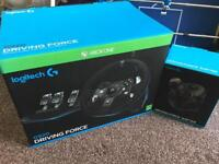 Xbox ONE / PC Racing wheel & pedals Logitech G920 driving force