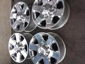 BRAND NEW TAKE OFF DODGE RAM 2500  FACTORY OEM 18 INCH ALLOY WHEEL SET OF FOUR