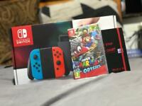 New Nintendo Switch with Mario Kart game