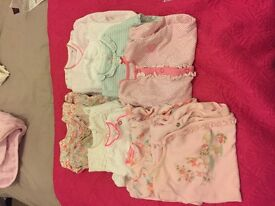 11 first size sleepsuits
