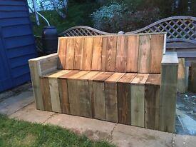 Hand made rustic garden furniture