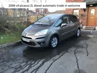 2008 citroen c4 picasso diesel automatic trade in welcome