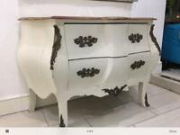 French bombe style chest of drawers