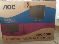 "AOC 23"" Desktop monitor boxed/unopened"