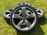 "Genuine Audi A1 18"" Alloys & Tyres VAG ALLOY WHEELS REFURBISHED"