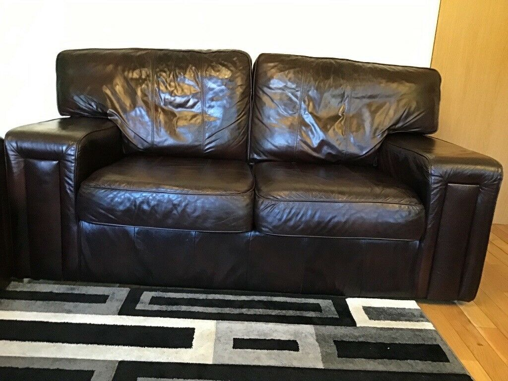 b65ed1877045 Real leather 3x2 seater sofas with tub chair | in Middlesbrough, North ...