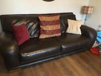 3 Seater Leather Sofa (Gone today)