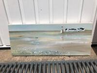 Lovely beach prints on canvas