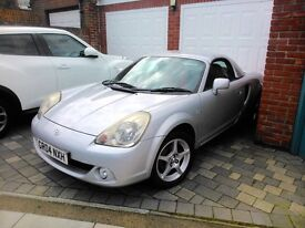 TOYOTA MR2 1.8 VVTI ROADSTER METALLIC SILVER 6 SPEED FACELIFT 80K SOFT TOP HARD TOP CONVERTIBLE