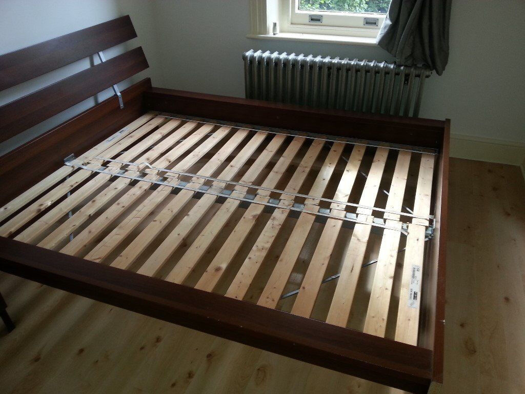 ikea hopen king size wooden bed frame only for sale no mattress included - Bed Frames With Mattress Included