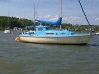 Seal 22 sailing boat ready to sail