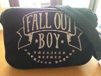 Fallout Boy - Black Over Shoulder Bag - suitable size for school or college. VGC