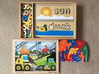 Melissa and Doug See and Spell/Wooden puzzles